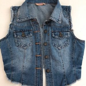 Boho High-Low Jean Vest